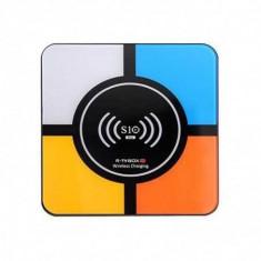 Tv Box S10 Plus 4K, Android 8.1, Incarcare wireless, 4GB RAM 32GB ROM, RK3328 Quad-Core, Kodi, Wifi, Redare 3D, LAN