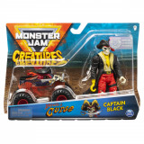 Set macheta Monster Jam Creatures - Blestemul piratilor si Capitanul Negru, 1:64