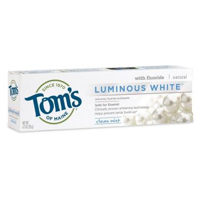 Pasta de Dinti cu Fluor - Tom's Of Maine - Luminous White - 133gr foto