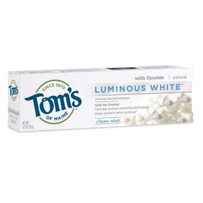 Pasta de Dinti cu Fluor - Tom's Of Maine - Luminous White - 133gr