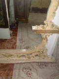 Oglinda  de podea stil baroc ,veche, FOARTE MARE,1,5/2m,lemn masiv sculptat, 1900 - 1949