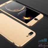Husa iPhone 7 Plus Acoperire Completa 360 De Grade Aurie