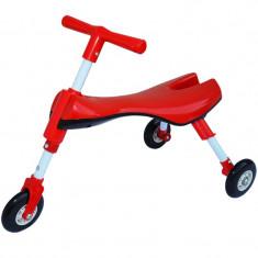 Tricicleta copii pliabila fara pedale - Rosu