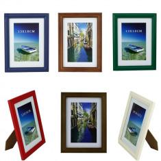 Rama foto Green Ocean, format 13x18 cm, cadru lemn, suport birou