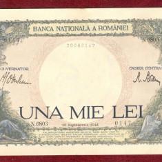 Bancnota UNA MIE LEI - 1.000 Lei  1941 - 1000 Lei - Serie N - Stare Foarte buna