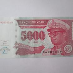 Cumpara ieftin Zair 5000 Zaires 1995 UNC