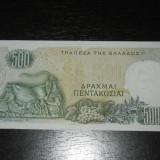 Bancnota 500 drahme Grecia 1968, UNC