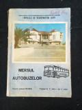 Mersul autobuzelor pentru județul Mures/1981-1982