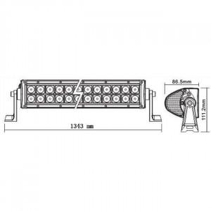 Bara proiectoare LED Auto Offroad 288W/12V-24V, 21.100 Lumeni, 50″/127 cm, Combo Beam 8/90 Grade