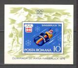 Romania.1976 Olimpiada de iarna INNSBRUCK-colita  HR.296, Nestampilat