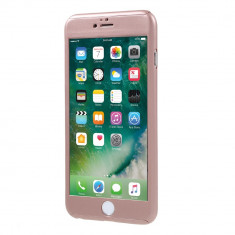 Husa Apple iPhone 6/6S Flippy Full Cover 360 Roz Auriu + Folie de protectie