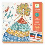 Atelier creativ de pictura Djeco Rochii cu flori