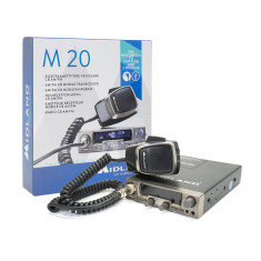 Resigilat : Statie radio CB Midland M20 cu USB, ASQ Digital, S-Metru digital 4W 12