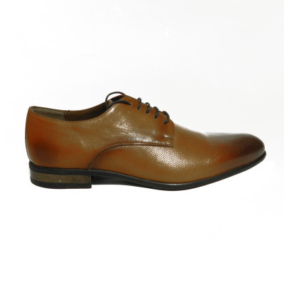 Pantofi eleganti pentru barbati Enzo, piele naturala, RIVA MANCINA, Maro, 39 EU foto