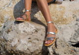 Cumpara ieftin Sandale Dama Grecesti Hadria Impletite Aurii