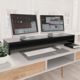 Suport monitor, negru, 100 x 24 x 13 cm, PAL