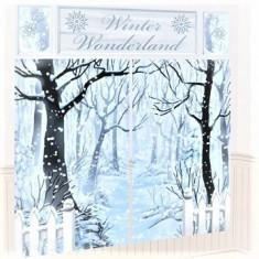 Ornament Sala - Banner-Tapet Mare Scena Iarna, Amscan 670699, 5 piese