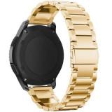 Curea metalica Smartwatch Samsung Gear S3, iUni 22 mm Otel Inoxidabil, Gold