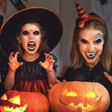 Dinti de vampir fosforescenti, pentru copii, efect horror Halloween