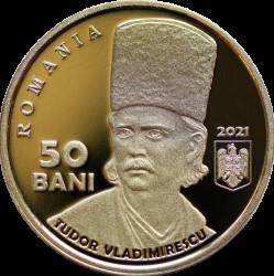 Romania 50 Bani 2021 - Tudor Vladimirescu, PROOF KM-New UNC !!! foto
