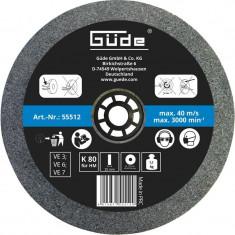 Disc abraziv pentru polizor de banc Guede Gude55512 O175x20x32 mm K80