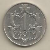 POLONIA  1   ZLOT   ZLOTY  1929  [1]  XF+ ,  livrare  in  cartonas