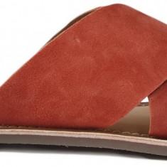Papuci de dama din piele Kickers 700310 orange