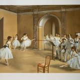 Edgar Degas- Le foyer de la danse à l'Opéra de Paris en 1872, original litograph