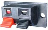 Conector boxe 2 pini, montare pe panou, 123651