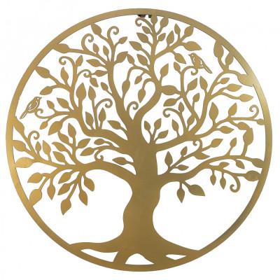 Decor perete, Copacul vietii, Arborele Vietii, 90x90 Model 1, Auriu foto