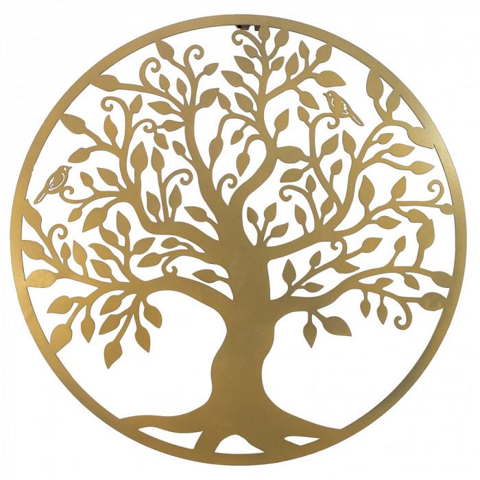 Decor perete, Copacul vietii, Arborele Vietii, 90x90 Model 1, Auriu
