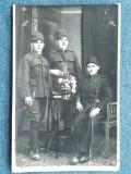 402 - Fotografie veche cu grup de soldati / Foto Constantinescu Campulung Muscel