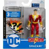 Figurina Shazam flexibila, 10 cm, cu accesorii, Spin Master