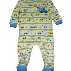 Salopeta / Pijama bebe imprimeu utilaje Z71