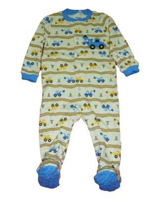 Salopeta / Pijama bebe imprimeu utilaje Z71 foto