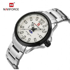 Ceas Barbati Luxury Business Naviforce NF9084 Japan MVT CALENDAR Subacvatic
