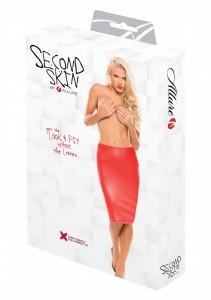 Fusta Rosie Latex Red Pencil Skirt Second Skin
