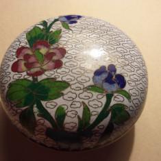 Bomboniera China bronz , portelan