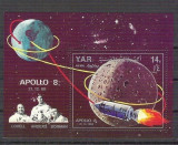 Yemen 1969 Space, Apollo 8, perf sheet, used G.069
