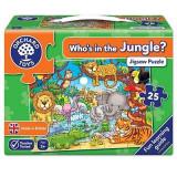 Puzzle cu activitati Cine este in jungla? WHO'S IN THE JUNGLE?, orchard toys
