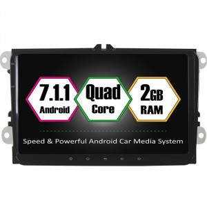 "Unitate Multimedia cu Navigatie GPS, Touchscreen HD 9"" Inch, Android 7.1, Wi-Fi, 2GB DDR3, Volkswagen VW Scirocco + Cadou Soft si Harti GPS 16Gb Me"