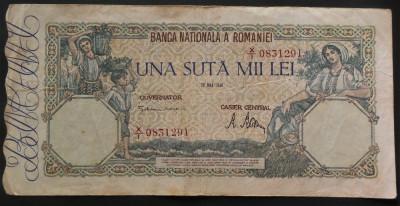 Bancnota 100000 lei - ROMANIA, anul 1946 / MAI   *cod 238 foto
