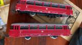 locomotiva si vagon automotor lvt 172,model tt,scara 1/120