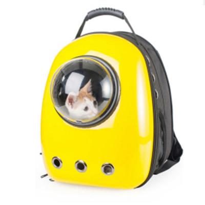 Rucsac transport animale de companie, tip capsula astronaut, galben, Gonga foto