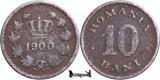1900, 10 Bani - Carol I - Romania