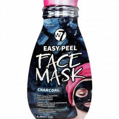 Masca pe Baza de Carbune pentru Indepartarea Impuritatilor W7 Easy Peel Face Mask Charcoal 10 g