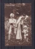CASA REGALA ROMANA REGINA MARIA PRINTUL CAROL II SI NICOLAE IN COSTUM NATIONAL, Necirculata, Printata