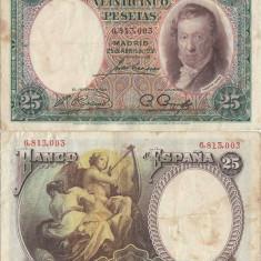 1931 ( 25 IV ) , 25 pesetas ( P-81 ) - Spania