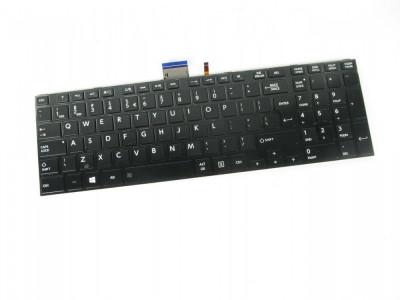 Tastatura Laptop Toshiba Satellite S55T luminata cu rama us neagra foto