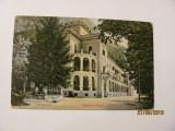 "GE - Ilustrata veche BAILE HERCULANE ""Hotel Carol"" circulata 1916 / varianta 2"